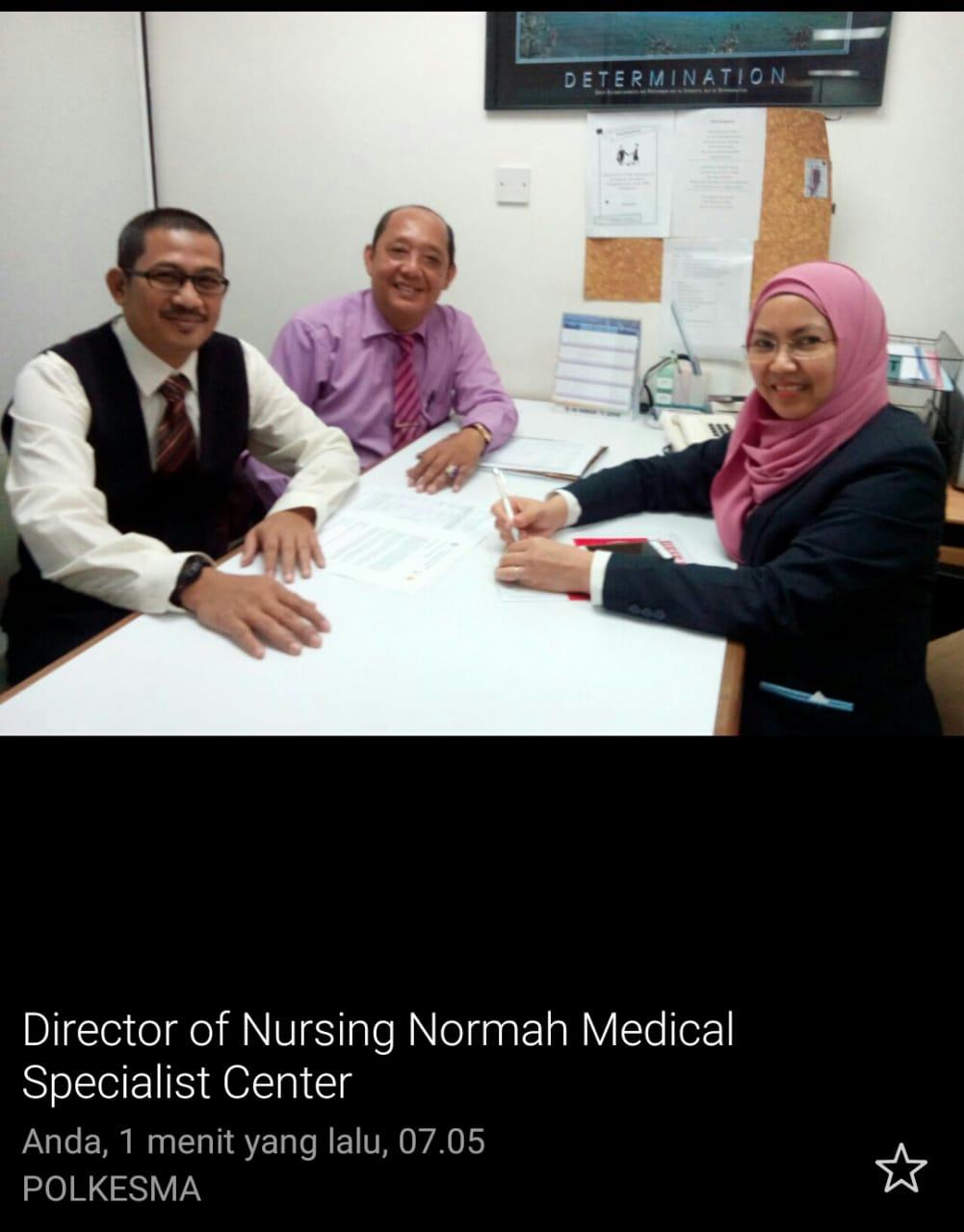 Kegiatan praktik klinik di Normah Medical Specialist Center Malaysia